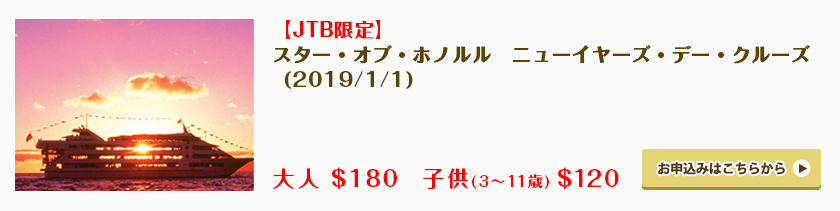 【JTB限定】スター・オブ・ホノルル・ニューイヤーズ・デー・クルーズ