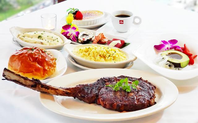ザ・シグネチャー・プライム・ステーキ&シーフード トマホークディナー