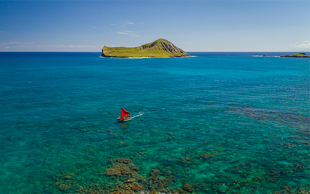 オアフ島ワイマナロ・カヌー遊覧ツアー