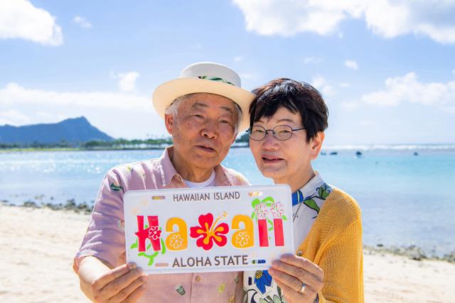 思い出のハワイ シニアフォトプラン(美肌仕上げ付き)