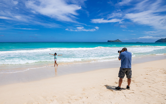 カメラマン同行 オアフ島東海岸絶景スポットフォトツアー 半日コース 午前/午後